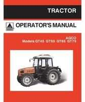 AGCO 79021716B Operator Manual - GT45 / GT55 / GT65 / GT75 Tractor