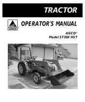 AGCO 79021930 Operator Manual - ST30X Compact Tractor (hydro trans)