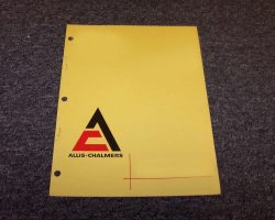 Allis-Chalmers D14 Wheel Tractor Operator's Manual