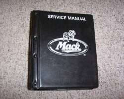 1980 Mack Truck U Series Service Manual
