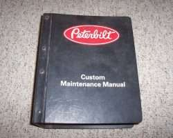 1976 Peterbilt 200 Series Trucks Service Manual