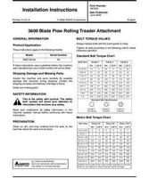 AGCO SN997620 Operator Manual - 3612 / 3662 / 3672 / 3692 Blade Plow Rolling Treader Attachment