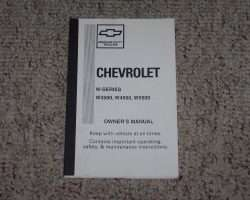 1999 Chevrolet W3500 Diesel Truck Owner's Manual