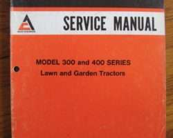 Allis-Chalmers 312, 312D and 312H Lawn & Garden Tractor Service Manual