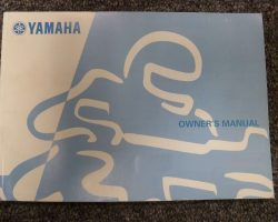 Owner's Manual for 2005 Yamaha YZF600R Motorcycle