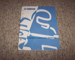 Owner's Service Manual for 1998 Yamaha YZ400 Motorcycle