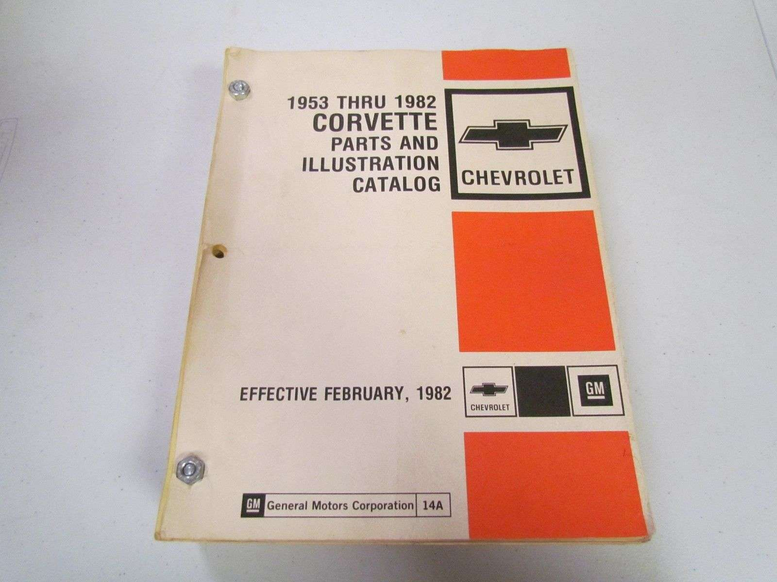 1969 Chevrolet Corvette Parts Catalog Manual