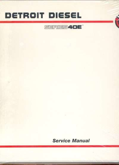 2000 Detroit Diesel 40E Series Engines Service Manual