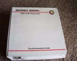 1996 Detroit Diesel 40E Series Engines DDEC III Troubleshooting Service Repair Manual