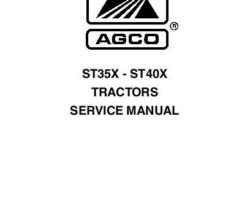 AGCO 79021728B ST35X / ST40X Compact Tractor Service Manual Assembly (Includes Binder & Engine Manual)