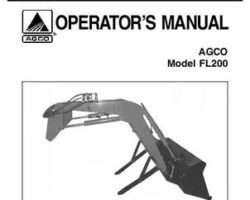 AGCO 1449991M1 Operator Manual - FL200 Loader