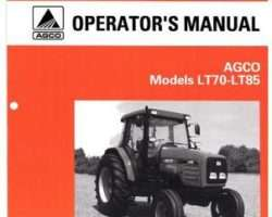 AGCO 1857362M2 Operator Manual - LT70 / LT85 Tractor (cab)