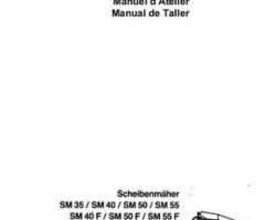 AGCO Allis 2951176 Service Manual - SM35 / SM40 / SM45 / SM45CR / SM50 / SM55 Disc Mower