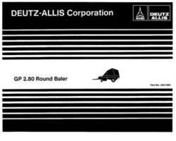 AGCO Allis 2951360 Parts Book - GP2.80 Round Baler