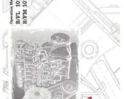 AGCO Allis 2979683 Operator Manual - B/FL / B/FM 1011F Engine