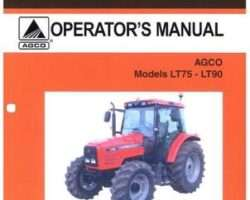AGCO 3378493M1 Operator Manual - LT75 / LT90 Tractor (mech shuttle, speedshift, powershift)