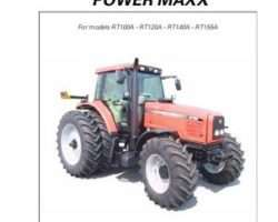 AGCO 3378810M2 Operator Manual - RT100A / RT120A / RT140A / RT155A Tractor (PowerMaxx CVT, tier 2)