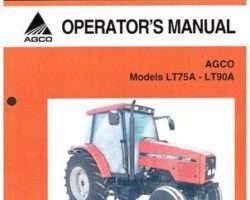 AGCO 3378882M2 Operator Manual - LT75A / LT90A Tractor (mech shuttle, speedshift, powershift)