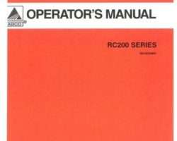 AGCO 3643650M91 Operator Manual - RC248 / RC260 / RC272 Rotary Cutter