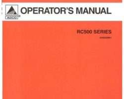 AGCO 3643652M91 Operator Manual - RC572 / RC584 Rotary Cutter