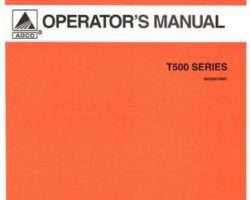 AGCO 3643661M91 Operator Manual - T560 / T572 Rotary Tiller
