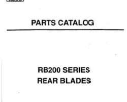 AGCO 3643667M91 Parts Book - RB284 Rear Blade
