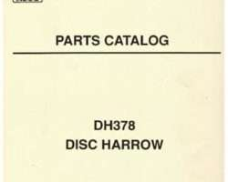 AGCO 3643671M91 Parts Book - DH378 Disc Harrow
