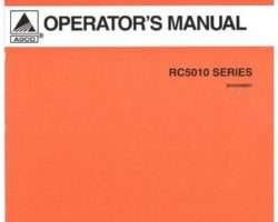 AGCO 3644299M91 Operator Manual - RC5010 Series Cutter (rotary)