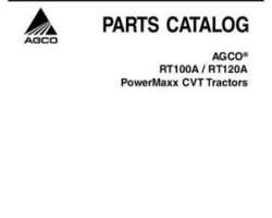 AGCO 3906004M5 Parts Book - RT100A / RT120A Tractor (PowerMaxx CVT)