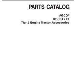 AGCO 3906059M9 Parts Book - RT / DT / LT Series Tractor (accesories, tier 3 engine)