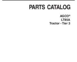AGCO 3906184M10 Parts Book - LT85A Tractor (tier 3)