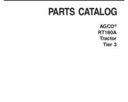 AGCO 3906208M6 Parts Book - RT180A Tractor (tier 3)