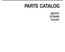 AGCO 3906220M8 Parts Book - DT205B Tractor
