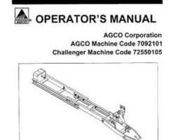 AGCO 4263151M1 Operator Manual - Quick Hitch & Subframe (Agco 7092101 & Challenger 7255105)
