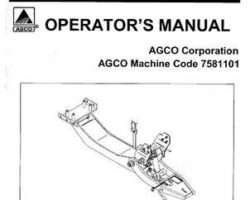 AGCO 4263867M1 Operator Manual - 7581101 Quick Hitch and Subframe