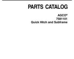 AGCO 4263978M2 Parts Book - 7581101 Quick Hitch and Subframe
