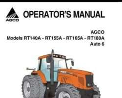 AGCO 4315054M2 Operator Manual - RT140A / RT155A / RT165A / RT180A Tractor (Auto 6, tier 3)