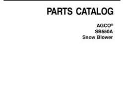 AGCO 4316106M5 Parts Book - SB550A Snow Blower