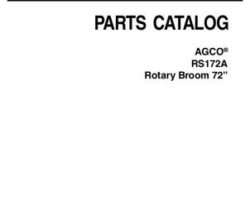 AGCO 4316268M3 Parts Book - RS172A Rotary Broom