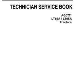 AGCO 4346417M1 Service Manual - LT85A / LT95A Tractor