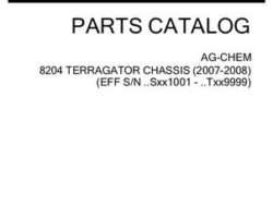Ag-Chem 507106D1F Parts Book - 8204 TerraGator (chassis, eff sn Sxxx1001, 2007)