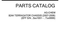 Ag-Chem 507108D1E Parts Book - 8244 TerraGator (chassis, eff sn Sxxx1001, 2007)