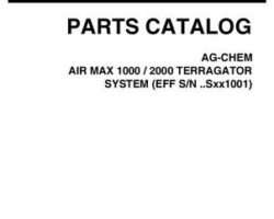 Ag-Chem 507384D1E Parts Book - 1000 / 2000 Air Max TerraGator (system, eff sn Sxxx1001, 2007)