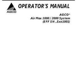AGCO 507385D1 Operator Manual - 1000 / 2000 Air Max (system, eff sn Sxx1001, 2007)