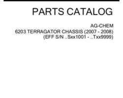 Ag-Chem 507640D1F Parts Book - 6203 TerraGator (chassis, eff sn Sxxx1001, 2007)
