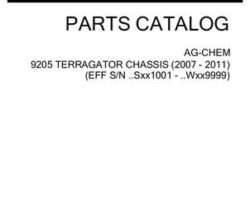 Ag-Chem 509044D1G Parts Book - 9205 TerraGator (chassis, eff sn Sxxx1001, 2007)