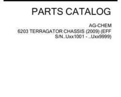 Ag-Chem 526296D1D Parts Book - 6203 TerraGator (chassis, eff sn Uxxx1001, 2009)