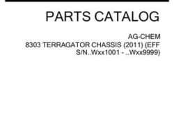 Ag-Chem 529204D1F Parts Book - 8303 TerraGator (chassis, eff sn Wxxx1001, 2011)