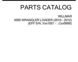 Willmar 532096D1C Parts Book - 4560 Wrangler Loader (2010-2012)
