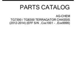 Ag-Chem 537855D1D Parts Book - TG7300 / TG8300 TerraGator (chassis, eff sn Cxx1001, 2014)